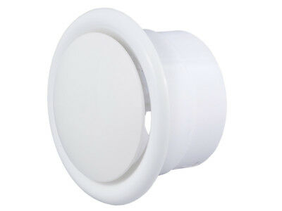 White Ceiling Air Exhaust / Supply Valve Air Vent Grille Duct Cover Diffuser
