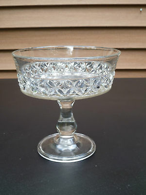 Antique Pressed Glass Clear Compote U.S GLASS , DUNCAN #356, 1880