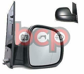 Mercedes Vito 2003-2010 Manual Black Door Wing Mirror Drivers Side Right O/s