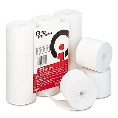 Office Impressions, Calculator Plain Paper Roll, 12 Pack