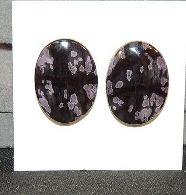 Sugilite Cabochons Pair of 22x16mm from South Africa  (7105)
