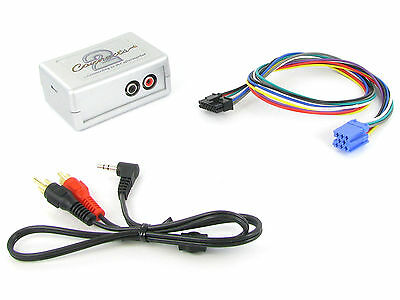 Peugeot 206 307 406 607 807 AUX input adapter 3.5mm jack car iPod MP3 CTVPGX010