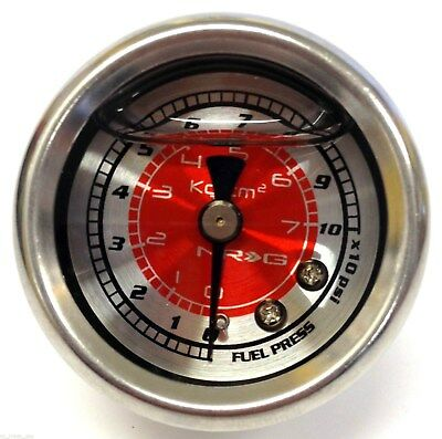 NRG FUEL PRESSURE GAUGE LiQUID FILLED 0-100 psi 1/8 NPT UNIVERSAL GAUGE ONLY