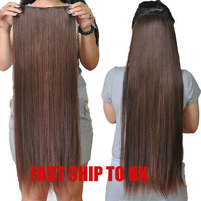 200g So Thick Heavy Long One Piece Full Head 5 Clip in Extensions Remy Hair New