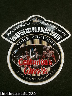 Beer Pump Clip - York Centurion's Ghost Ale