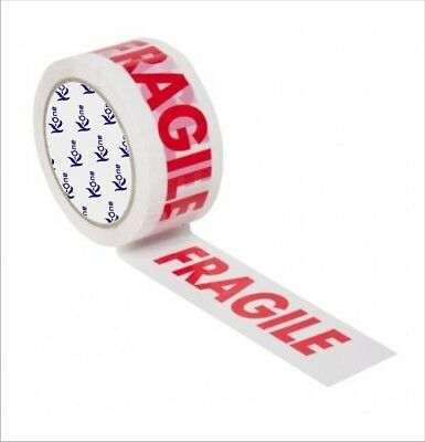 FRAGILE PRINTED STRONG PARCEL PACKING TAPE LOW NOISE 48MM x 66MM MULTILISTING