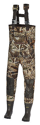 New Men 600 Gram MAX-4 Camo  Neoprene Hunting Chest Wader Lug Boots Size 13