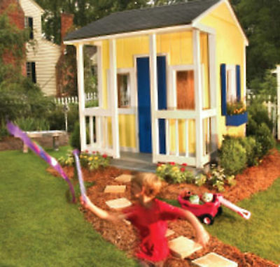 Simple build wooden playhouse/wendy​house plans 8x8 CD
