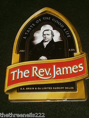 Beer Pump Clip - S.a. Brain The Rev James