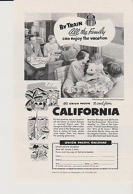 Lot of 4 Mint Print Ads Posters 1953 Union Pacific California Pacific Coast