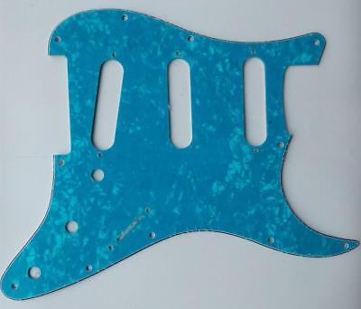 Electric Guitar Pickguard Scratch Plate for Strat Replacement Blue Pearl 3Ply