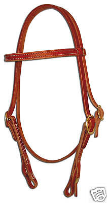 Western harness leather brow bridle headstall quick change US custom cowboy H104