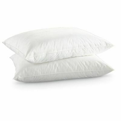 Premium Duck Feather & Down Pillow Pair - Natural Anti Allergy Pillows