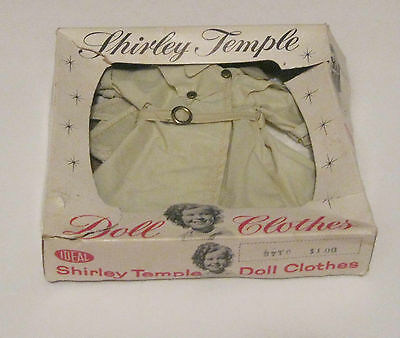 SHIRLEY TEMPLE IDEAL KAHKI RAINCOAT w/ MATCHING HEADSCARF FOR ST-12 DOLL w/ BOX