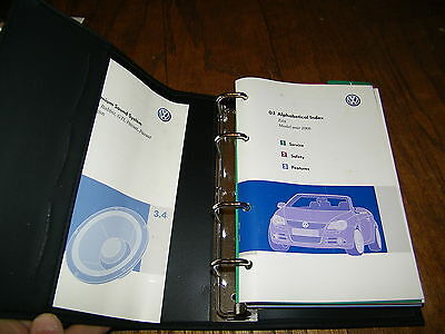2008 VOLKSWAGEN EOS Owners Manual With Case Vok137