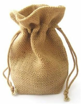 SMALL JUTE GIFT BAGS - hessian bags - wedding party gifts bag 10x15cm - Natural