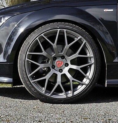 "20"" Audi TT MK2 Alloy Wheels - Raywell JRR - Gunmetal Grey - 5x112"
