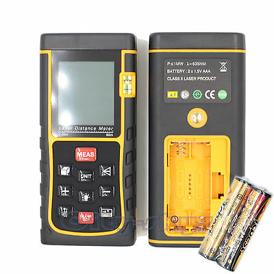 80M 262ft Mini LCD Digital Laser Distance Meter Range Finder Measure Diastimeter