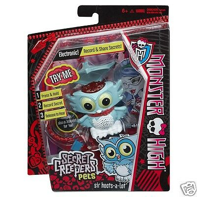 Monster High SECRET CREEPERS PETS SIR HOOTS-A-LOT GHOULIA YELPS PET NEW