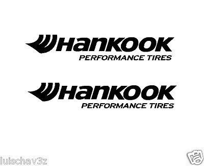 (2) 5 inch Hankook Performance Tires Decal Sticker