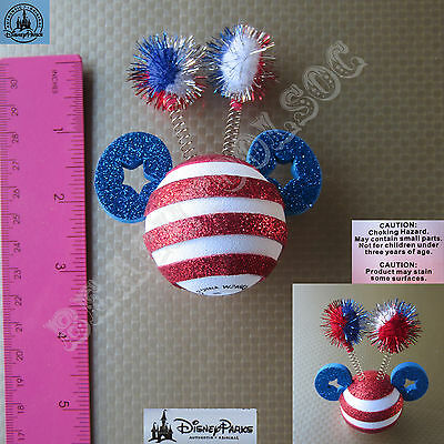 New Authentic Disney Mickey Patriotic July 4th Fireworks Car Antenna Topper