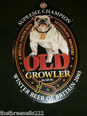 Beer Pump Clip - Nethergate Old Growler