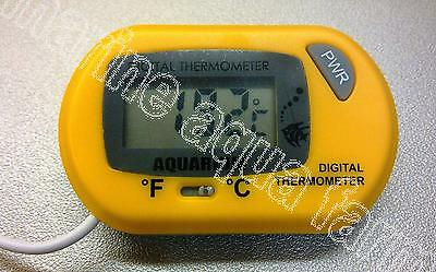 Aquarium Yellow Digital Thermometer, Reef, Marine, Fish, Tank, Water, Lcd, Coral
