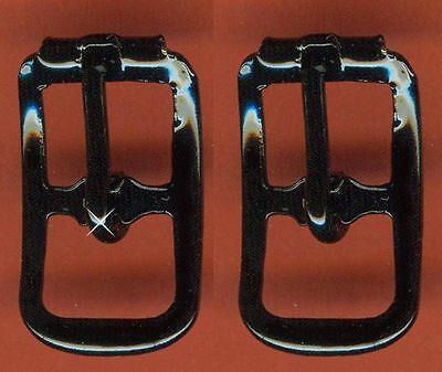 Vintage 12 Black Powder Coated Fancy 20x11MM Buckles FL3