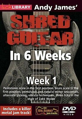 Andy James' Shred Guitar in 6 Weeks Week 1 Lick Library DVD NEW 000393158