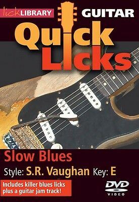 Slow Blues Quick Licks Style: Stevie Ray Vaughan; Key: E Lick Library  000393116