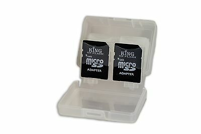SD/SDHC 4 in 1 Memory Card Storage Case Holds 4 SD Cards or 2 Micro SD & 2 SD/HC