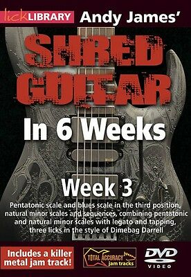 Andy James' Shred Guitar in 6 Weeks Week 3 Lick Library DVD NEW 000393160