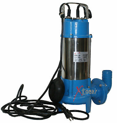 30FT LIFT Stainless 1HP Sewage Pump 1860 GPH Submersible Pump 110V NEW