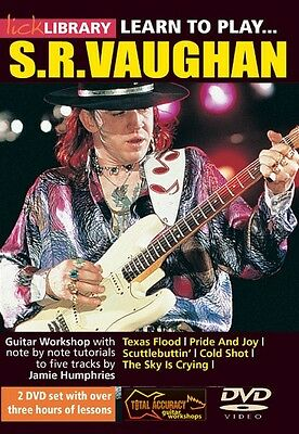 Learn to Play Stevie Ray Vaughan Guitar Technique Lick Library DVD NEW 000393030