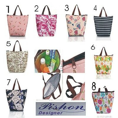New Insulated Tote Lunch Bag Cool Bag Cooler Lunch Box - Handbag
