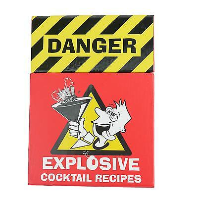 Explosive COCKTAIL RECIPES Kitchen Bar Party Man Cave Pool Room Gift