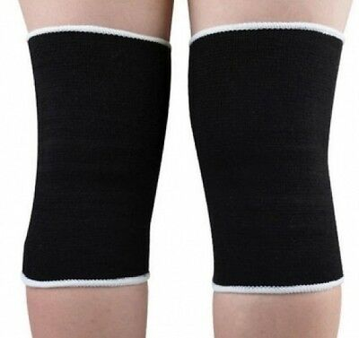 Knee Support Elasticated Bandage Brace Guard Wrap Arthritis Tendinitis Pain x 2