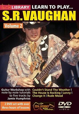 Learn to Play Stevie Ray Vaughan Guitar Technique Volume 2 Lick Librar 000393038