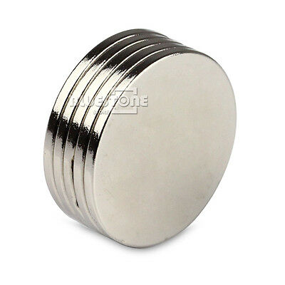 5pcs Super Strong Round Magnets 25 mm x 2 mm Disc Rare Earth Neodymium N50
