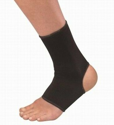 Elasticated Ankle Foot Support Brace Sock Wrap Pain Sprain MMA Guard (All Sizes)