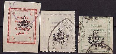 Middle East Persia 1906 Nice Lot Of 3 Overprints Stamps