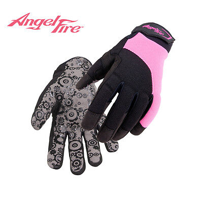 AngelFire® Women's Synthetic Leather Mechanic's Gloves size med