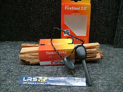 Light My Fire -  Army Firesteel and Tindersticks Fire Lighting Kit