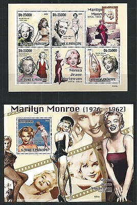 Sao Tome And Principe 2009 Block Mini Sheet Set Marilyn Monroe ** Mnh