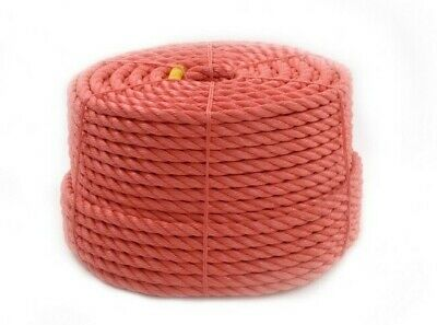 Orange Polypropylene Rope Twisted Polyrope Poly Rope Agriculture Camping PP