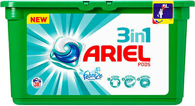 Ariel Febreze 3 In 1 Pods Regular 38 Washes