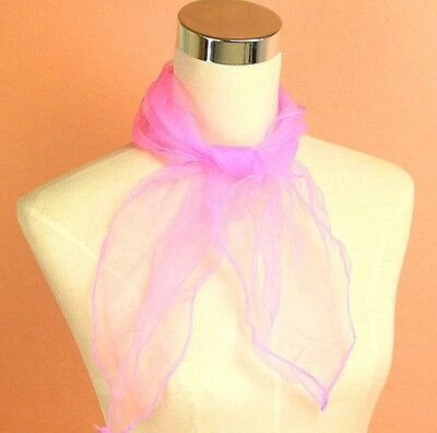 50s PINK NECK SCARF, PINK LADY, GREASE, HEN NIGHT OUT TIE FANCY DRESS ACCESSORY
