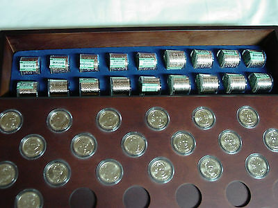 Danbury Mint US Presidential Dollars & Wood Case ~ Uncirculated Coins