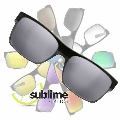 POLARIZED Metallic Silver Mirror Replacement Lenses For Oakley Twoface