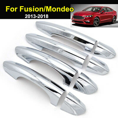 For Ford Fusion Mondeo 2013-2018 Chrome Door Handle Cover Trim Catch Cap Molding
